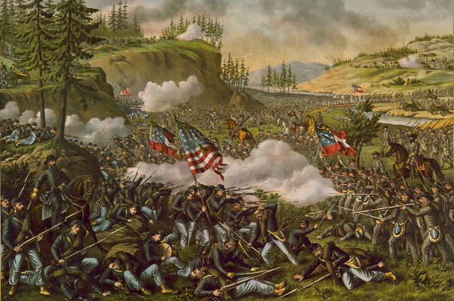 Битва при Чикамоге 20 сентября. Решающее наступление южан.
