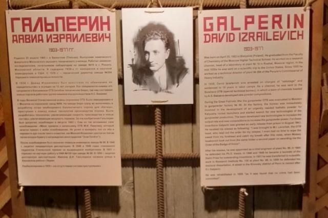 Давид Гальперин занимался разработкой пороха для