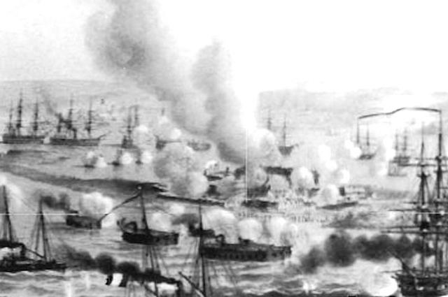 Французские корабли в Кинбурне, 1855 г.