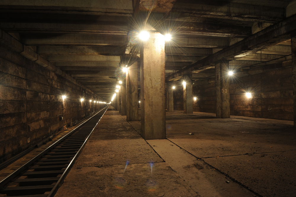 В течение почти сорока лет станция Спартак была призраком : она существовала, но не использовалась по назначению