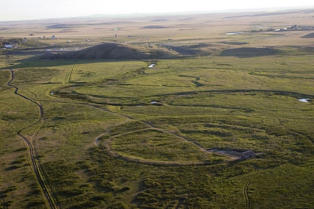 Панорама окрестностей Аркаима