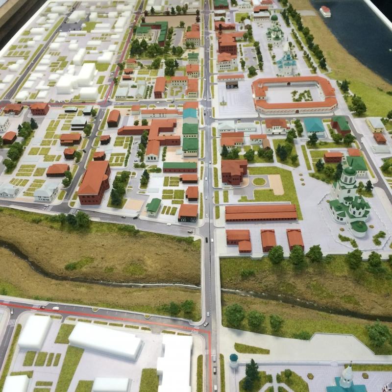 Проект реставрации города (макет).