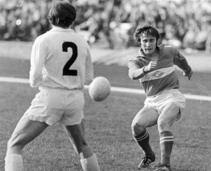 Евгений Ловчев (справа), 1973 г.