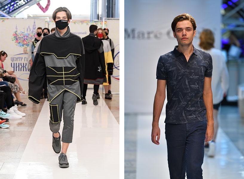 Иван ходит по подиуму наравне с обычными моделями.