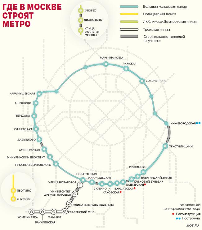 Сколько станций на Большой кольцевой линии?