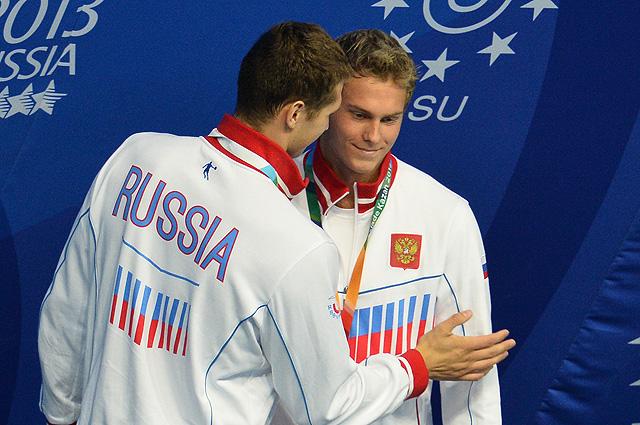 Пловцы Владимир Морозов (справа) и Никита Лобинцев