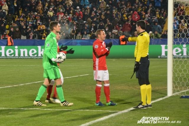 Пенальти в ворота мюнхенцев. Ростовчане в этом сезоне бьют с 11-метровой отметки только в Лиге чемпионов.