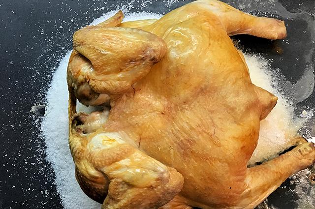 Курица на соли в духовке рецепт с фото