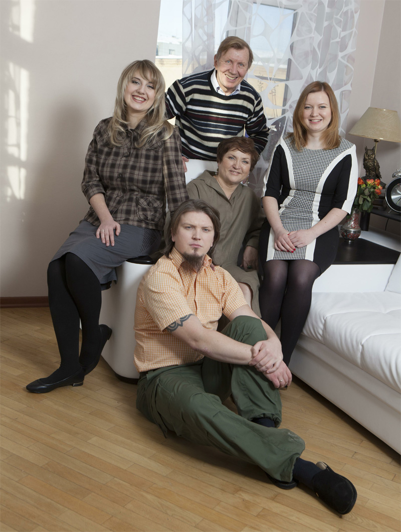 Юрий Чернов в кругу семьи