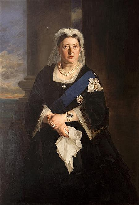 Портрет королевы Виктории работы Генриетты Уорд.