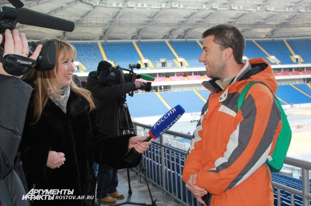 Журналисту из Бразилии понравился уютный стадион, где сыграет сборная Бразилии со Швейцарией.