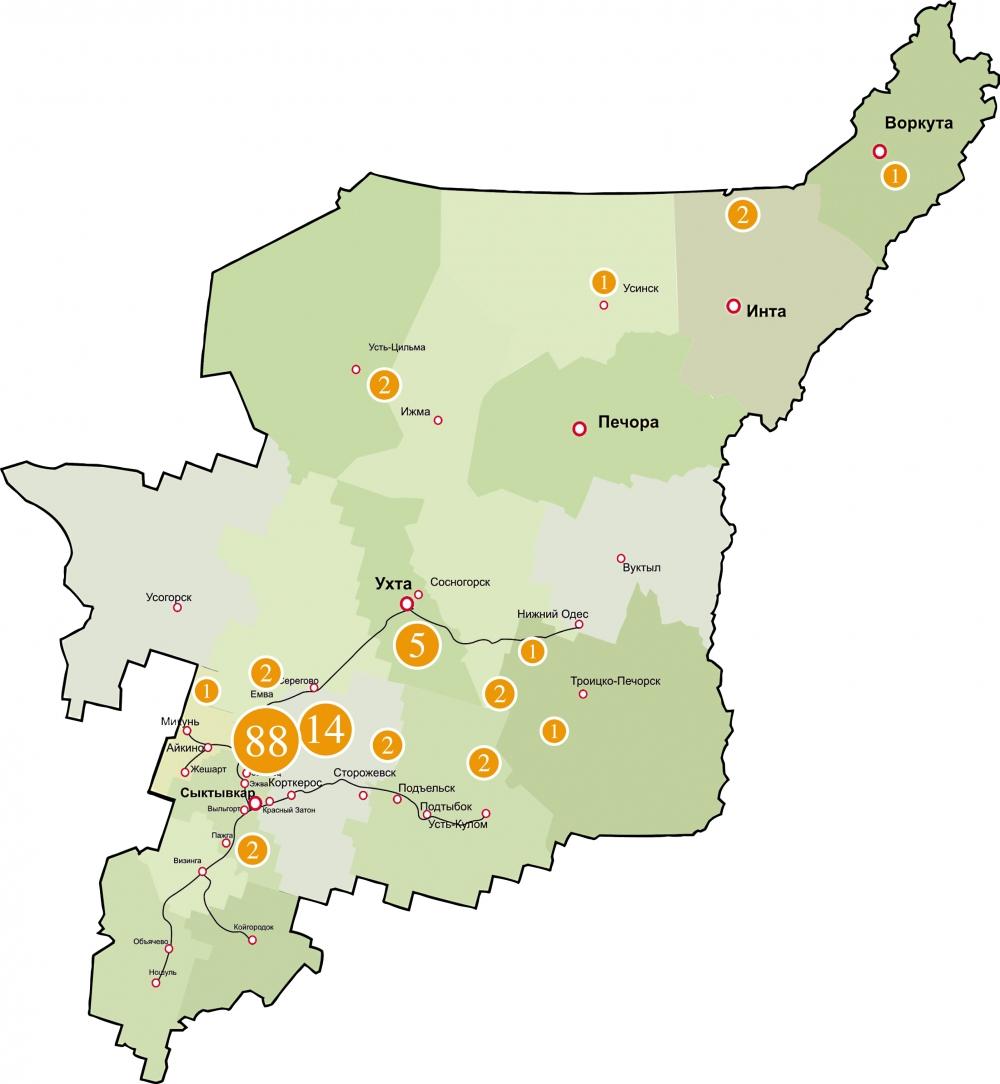 126 несанкционированных свалок обозначено на этой карте. Эксперты говорят о 350 несанкционированных свалках. Скорее всего их намного больше. Леса, реки, сам человек в большой опасности, если не бороться с безответственностью на всех уровнях. Данные kartasvalok.ru по Республике Коми