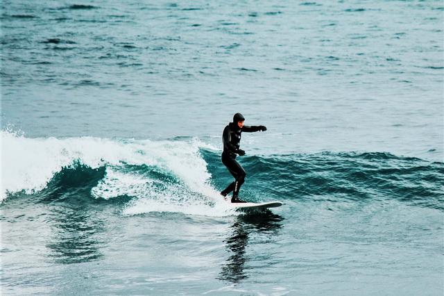 Сёрфингист, Халактырский пляж