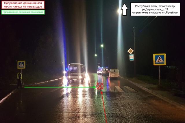 Водитель Ford, двигаясь по Сысольскому шоссе, совершил наезд на 42-летнего мужчину, который переходил дорогу по нерегулируемому пешеходному переходу.