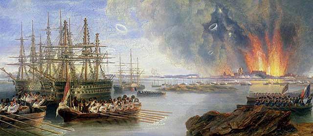 Джон Уилсон Кармайкл «Бомбардировка Севастополя», (1855).