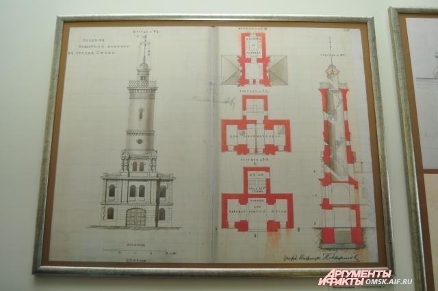 В архивах сохранился проект каланчи.