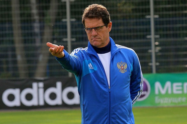 Тренер сборной России Фабио Капелло