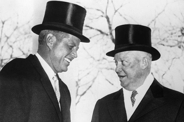 Эйзенхауэр и Джон Кеннеди.