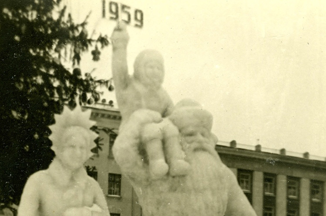Ледяная скульптура Советской время