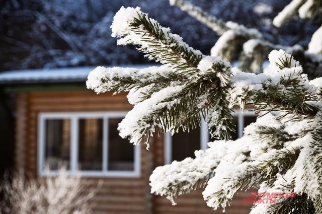 Зимой в Сибири сказочно красиво.