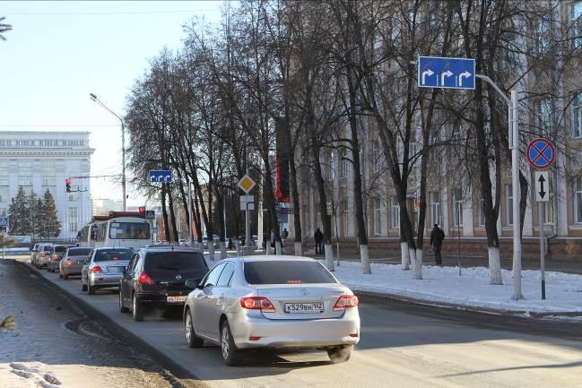 Проспект Советский в Кемерово