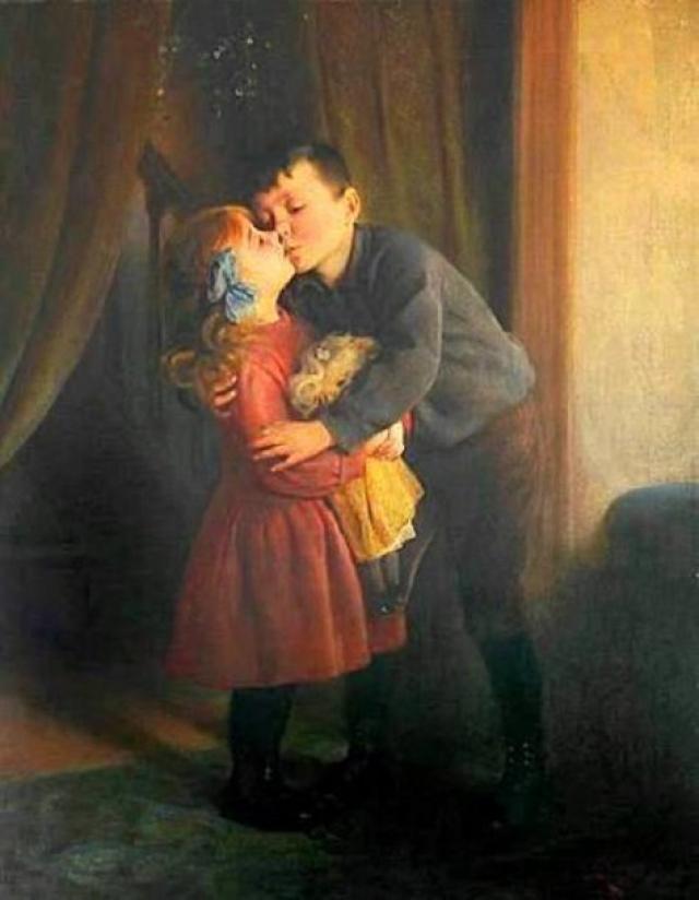 в конце XIX века в Англии сочли, что такое проявление любви как поцелуй достойно особого торжества
