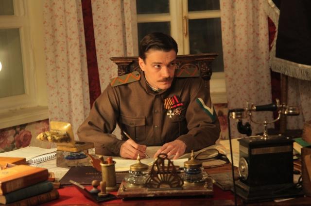 Максим Матвеев в роли генерала Пепеляева.