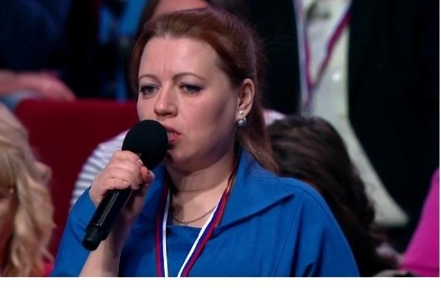 Юлия Мамонтова задала президенту вопрос о запрете омулевой рыбалки.