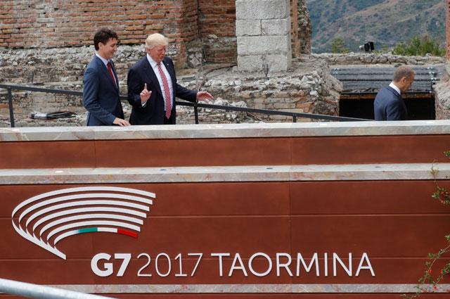 Дональд Трамп прибыл на саммит Большой семерки.