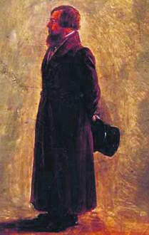 Петр Телушкин на картине Георгия Чернецова.