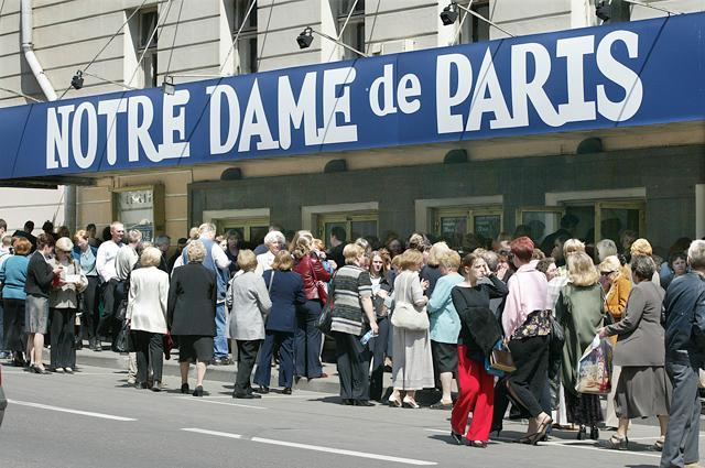 Мюзикл Нотр-Дам де Пари пользуется большой популярностью