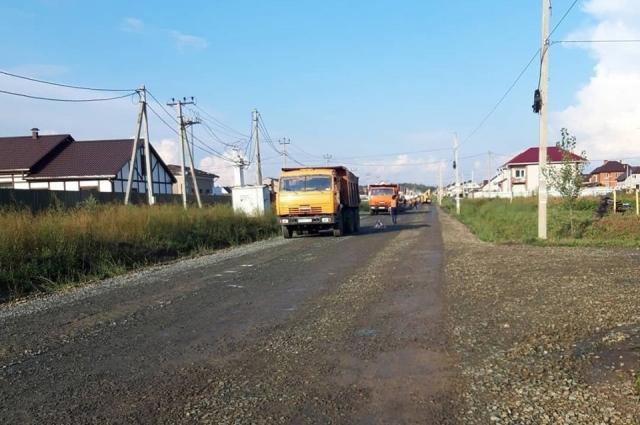 Ремонт дороги в Фирсовой Слободе.