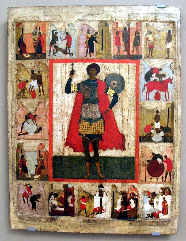 Великомученик Георгий Победоносец с житием. 16 век, Москва
