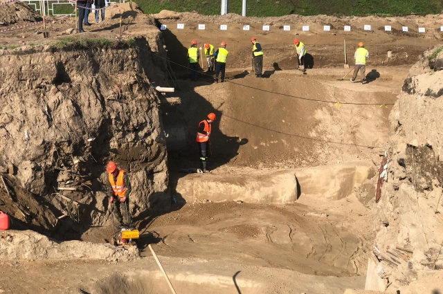Артефакты обнаружили в районе Николаевского проспекта.