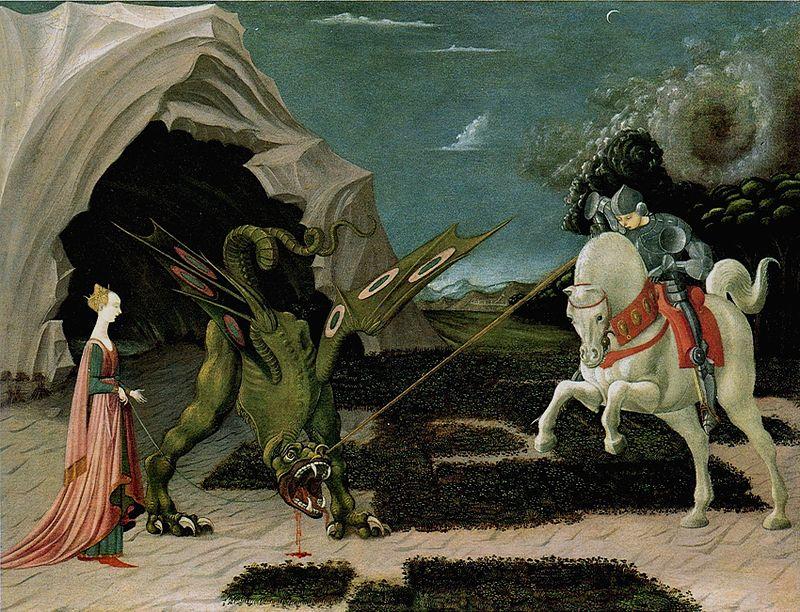 Паоло Уччелло. Святой Георгий и дракон.