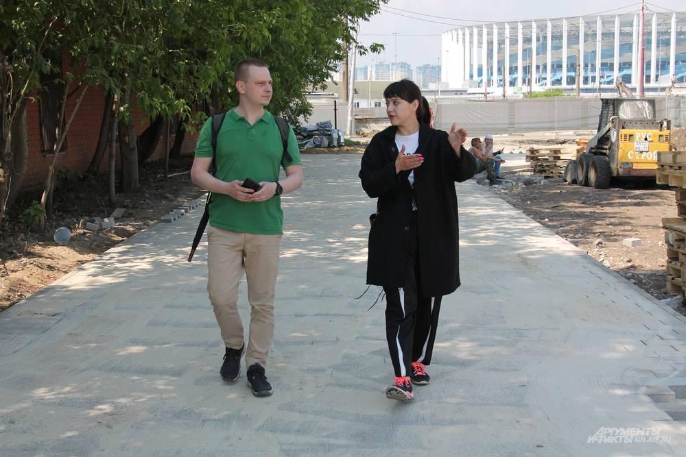 Дарья Шорина рассказала корреспонденту «АиФ-НН» о масштабном благоустройстве на левом берегу Оки.
