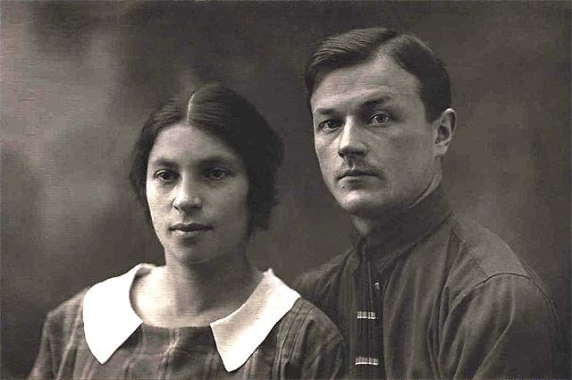 Агния Барто с мужем, Павлом Барто