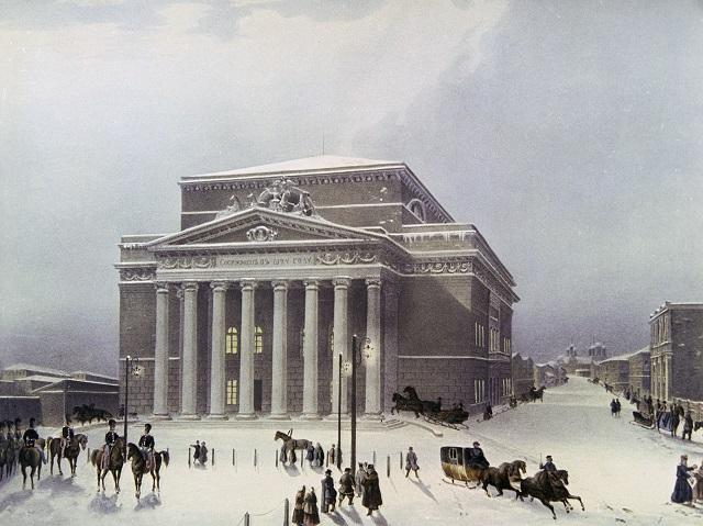 Большой театр в Москве, 1825.