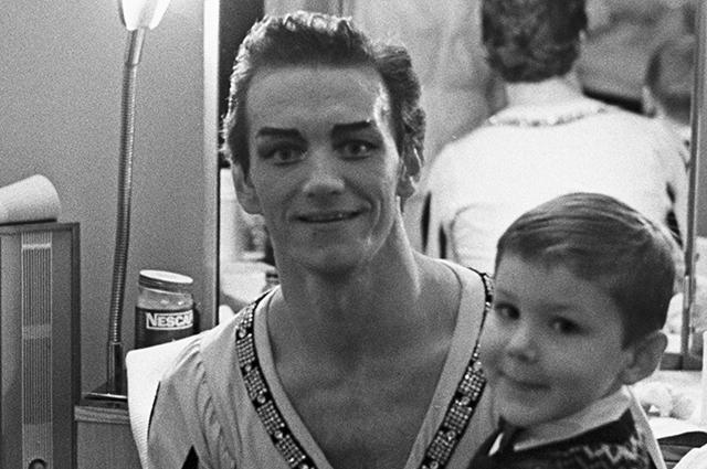 Марис Лиепа с сыном.