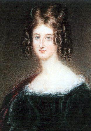 Августа Мария Ли, урождённая Байрон. Портрет.