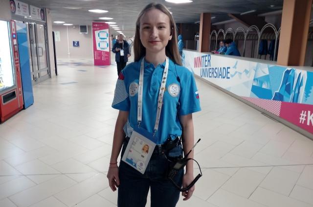 Елизавета Лопатина курировала работу волонтеров.