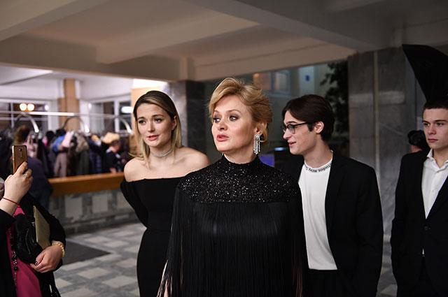 Анна Михалкова. Церемония вручения кинопремии «Золотой орел» в Москве.