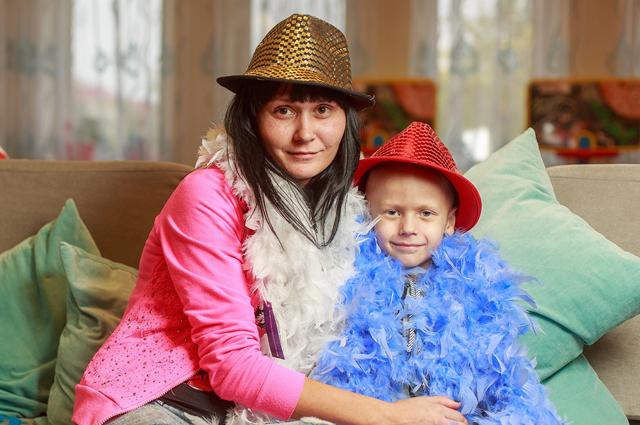 Зоя Снегирева и ее сын Кирилл