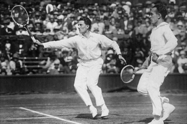 Жак Брюньон и Анри Коше, двое из четырёх мушкетёров французского тенниса