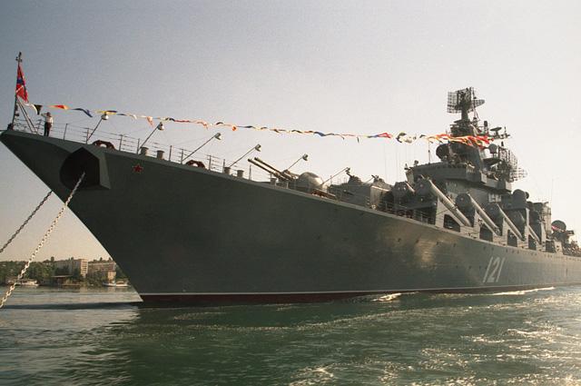 Флагман черноморского флота ракетный крейсер Москва