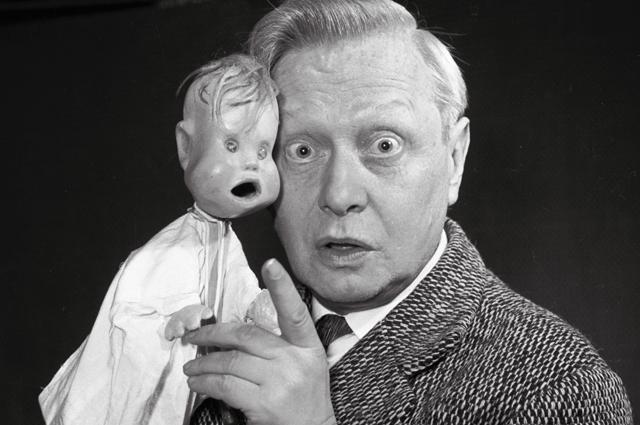 Сергей Образцов и Тяпа. 1955 год.