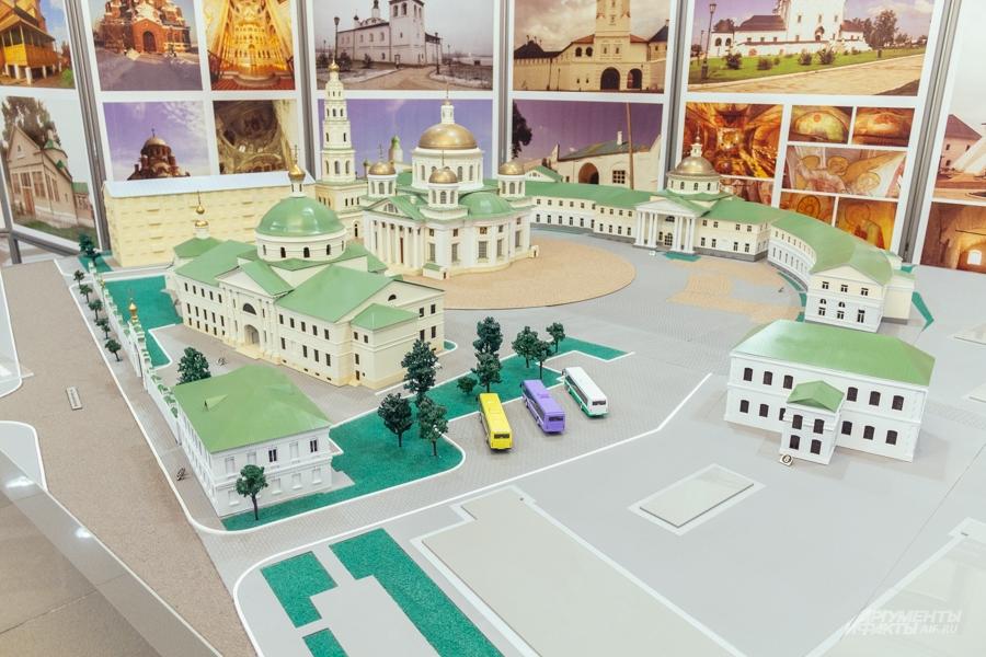 Вот так будет выглядеть Собор в честь Казанской иконы Божией матери в Казани. Макет.