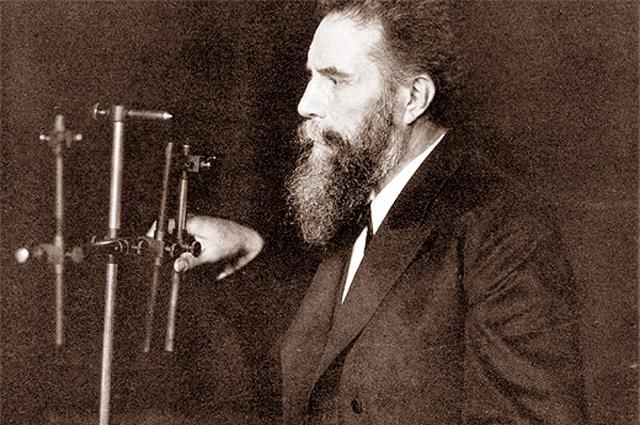 Вильгельм Рентген на рабочем месте