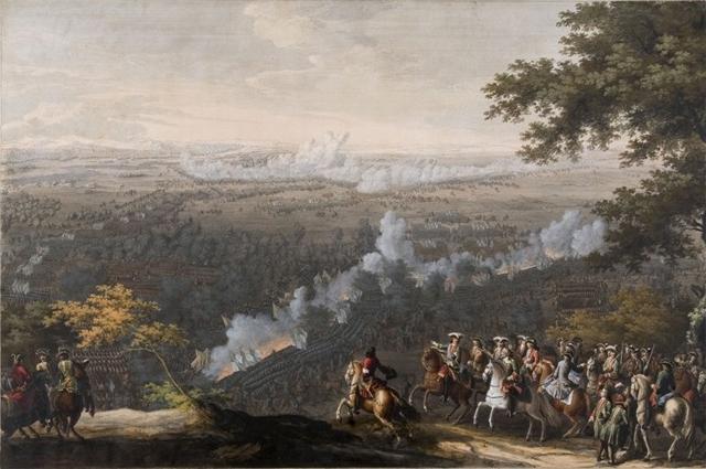 Баталия при Лесной. картина П. Д. Мартена.