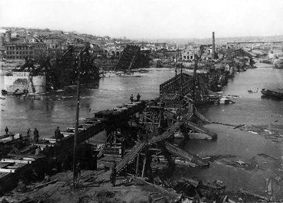 Состояние мостов после освобождения Ростова